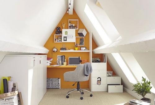 Un bureau dans les combles