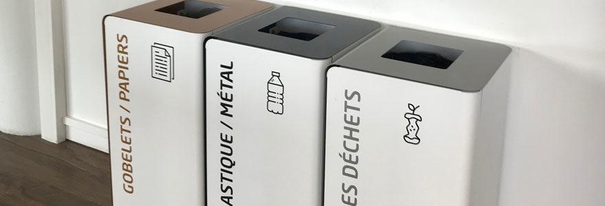 poubelle tri sélectif, poubelle de tri, poubelle tri, poubelle de bureau